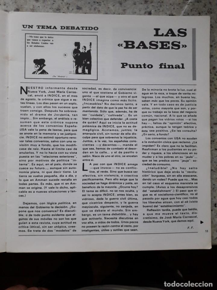 Coleccionismo de Revistas y Periódicos: INDICE 276 OCTUBRE 1970.HOMENAJE MUNDIAL AL CHE GUEVARA.ALFONSO SASTRE.EUGENIA SERRANO.MARIA MULET - Foto 5 - 138871082