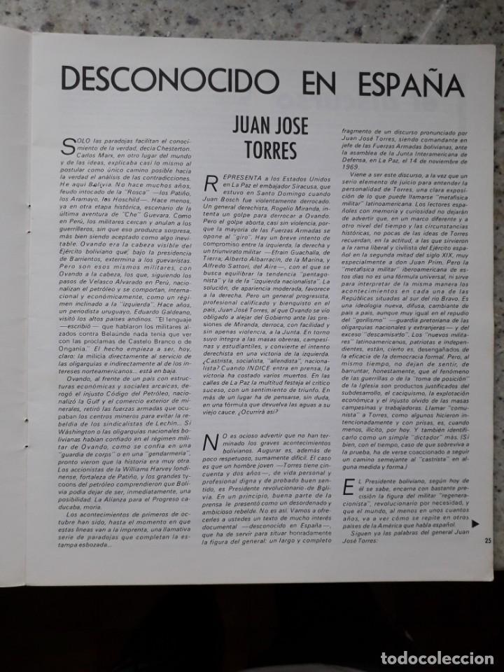 Coleccionismo de Revistas y Periódicos: INDICE 276 OCTUBRE 1970.HOMENAJE MUNDIAL AL CHE GUEVARA.ALFONSO SASTRE.EUGENIA SERRANO.MARIA MULET - Foto 8 - 138871082