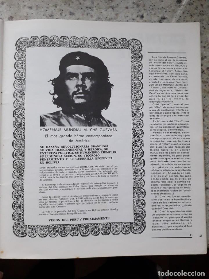 Coleccionismo de Revistas y Periódicos: INDICE 276 OCTUBRE 1970.HOMENAJE MUNDIAL AL CHE GUEVARA.ALFONSO SASTRE.EUGENIA SERRANO.MARIA MULET - Foto 13 - 138871082