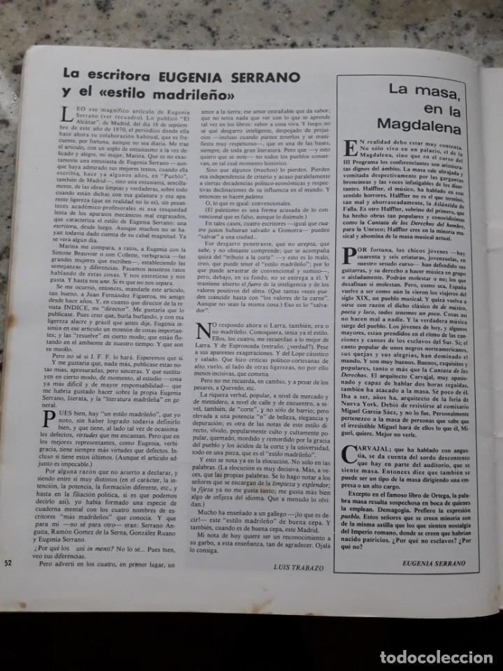Coleccionismo de Revistas y Periódicos: INDICE 276 OCTUBRE 1970.HOMENAJE MUNDIAL AL CHE GUEVARA.ALFONSO SASTRE.EUGENIA SERRANO.MARIA MULET - Foto 16 - 138871082