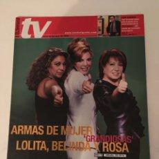 Coleccionismo de Revistas y Periódicos: REVISTA EL SEMANAL TV. 12 AL 18 MARZO 2002. GH, LOLITA, BELINDA WASHINGTON, JOSÉ CORONADO. Lote 138912898