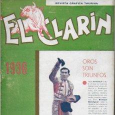 Coleccionismo de Revistas y Periódicos: EL CLARIN. REVISTA GRÁFICA TAURINA. Nº 670. VALENCIA, 1936. 27X19 CM. 16 P.. Lote 138955402