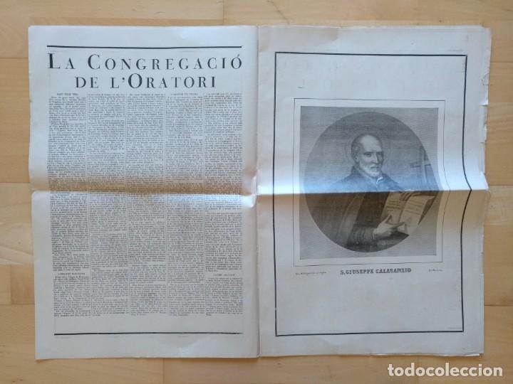 Coleccionismo de Revistas y Periódicos: EL ORDES RELIGIOSOS A CATALUNYA SUPLEMENT D'EL MATI 34 X 52 CM (APROX) 16 PAGINAS. RELIGION - Foto 3 - 139051018
