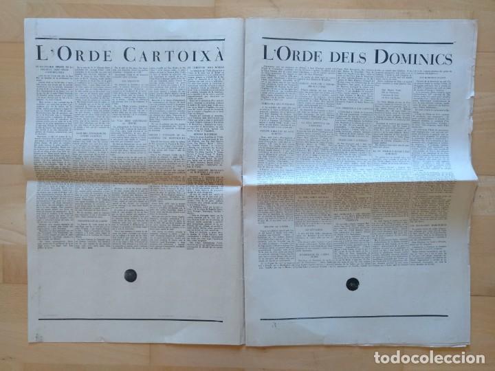 Coleccionismo de Revistas y Periódicos: EL ORDES RELIGIOSOS A CATALUNYA SUPLEMENT D'EL MATI 34 X 52 CM (APROX) 16 PAGINAS. RELIGION - Foto 4 - 139051018