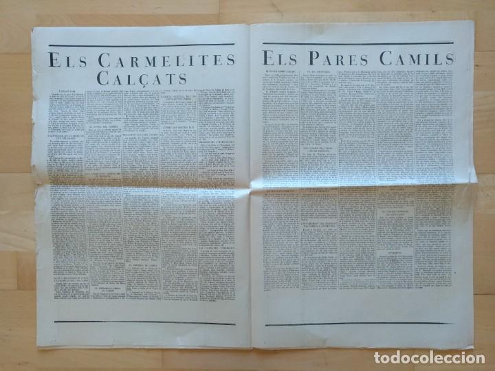 Coleccionismo de Revistas y Periódicos: EL ORDES RELIGIOSOS A CATALUNYA SUPLEMENT D'EL MATI 34 X 52 CM (APROX) 16 PAGINAS. RELIGION - Foto 6 - 139051018