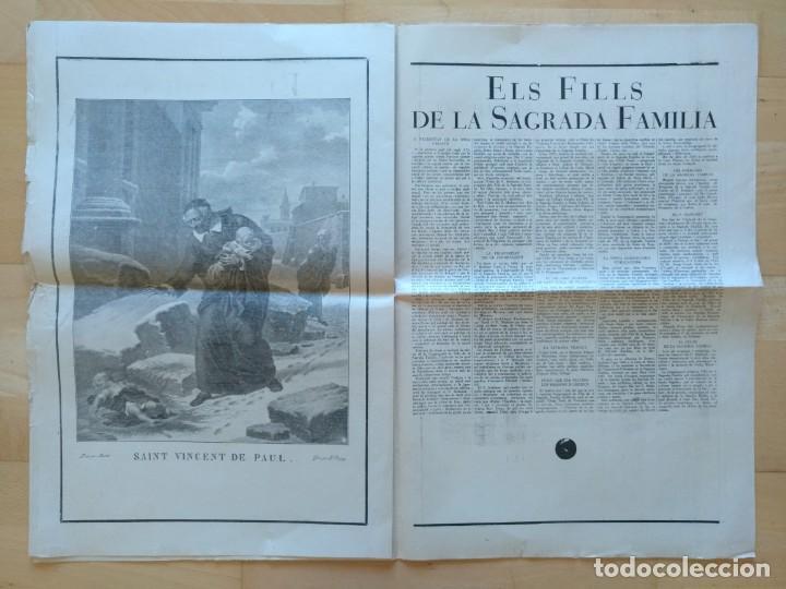 Coleccionismo de Revistas y Periódicos: EL ORDES RELIGIOSOS A CATALUNYA SUPLEMENT D'EL MATI 34 X 52 CM (APROX) 16 PAGINAS. RELIGION - Foto 7 - 139051018