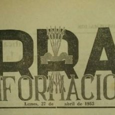 Coleccionismo de Revistas y Periódicos: 3 EJEMPLARES DE TARRASA INFORMACIÓN / ABRIL 1953 / NÚMS: 56 - 57 - 58. Lote 139077970