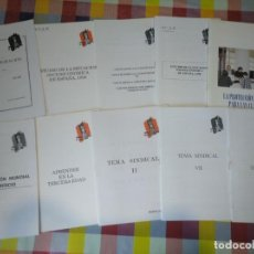 Coleccionismo de Revistas y Periódicos: LOTE 10 CUADERNILLOS MOVIMIENTO FALANGISTA DE ESPAÑA, 1996-2000 FALANGE. Lote 139092282