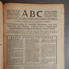 Coleccionismo de Revistas y Periódicos: AVANCE FRENTE PIRINEOS TOMA PLAN GISTAIN, FRENTE TERUEL Y CASTELLÓN PERIÓDICO GUERRA CIVIL 11/06/38. Lote 139183650