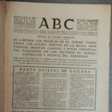 Coleccionismo de Revistas y Periódicos: TOMA DE EL TORMO, TORRECHIVA, CAUDIEL, LOS CALPES, MONTANEJOS... PERIÓDICO GUERRA CIVIL 21/07/38. Lote 139188206