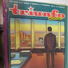 Coleccionismo de Revistas y Periódicos: TRIUNFO REVISTA Nº 2 LA DICTADURA DULCE DICIEMBRE 1980.. Lote 139334842