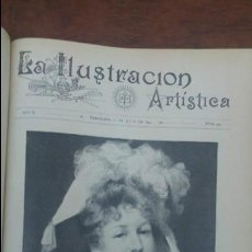Coleccionismo de Revistas y Periódicos: TOMO AÑO 1891 LA ILUSTRACION ARTISTICA 26 REVISTAS .MUY BUEN ESTADO. Lote 139460150