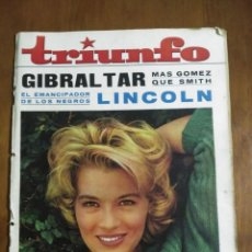 Coleccionismo de Revistas y Periódicos: REVISTA TRIUNFO 10 DE ABRIL DE 1965, CAMPO DE GIBRALTAR, HELENA RUBINSTEIN, LINCOLN. Lote 139467262