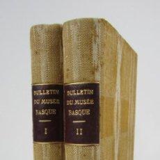Coleccionismo de Revistas y Periódicos: BULLETIN DU MUSÉE BASQUE, VARIOS NÚMEROS, DE 1925 A 1930, BAYONNE. 17X24,5CM . Lote 139524886