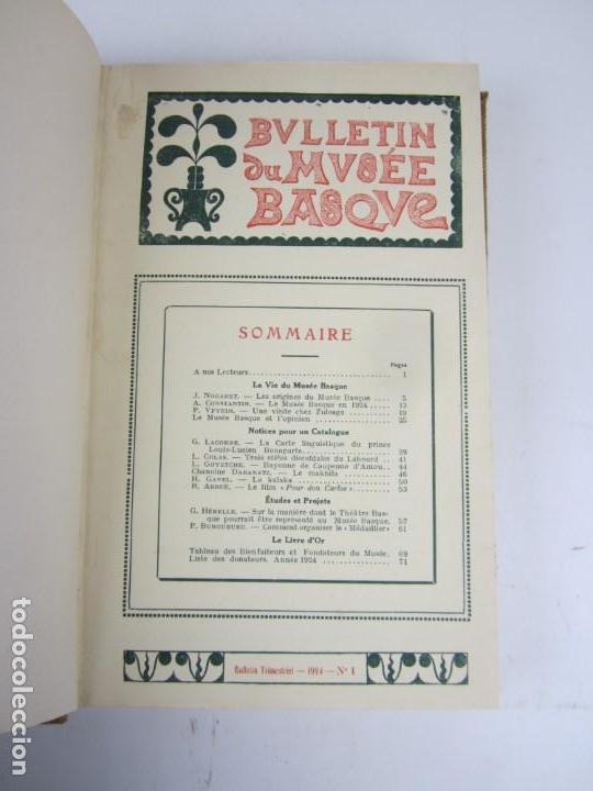 Coleccionismo de Revistas y Periódicos: Bulletin du musée basque, varios números, de 1925 a 1930, Bayonne. 17x24,5cm - Foto 3 - 139524886
