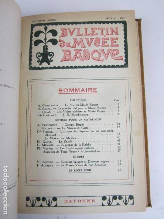 Coleccionismo de Revistas y Periódicos: Bulletin du musée basque, varios números, de 1925 a 1930, Bayonne. 17x24,5cm - Foto 4 - 139524886