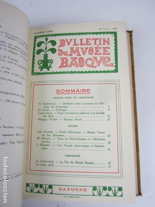 Coleccionismo de Revistas y Periódicos: Bulletin du musée basque, varios números, de 1925 a 1930, Bayonne. 17x24,5cm - Foto 5 - 139524886