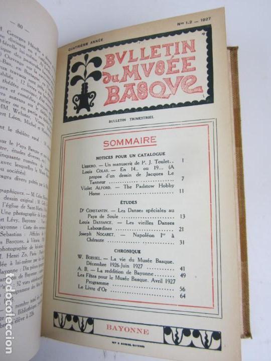 Coleccionismo de Revistas y Periódicos: Bulletin du musée basque, varios números, de 1925 a 1930, Bayonne. 17x24,5cm - Foto 6 - 139524886