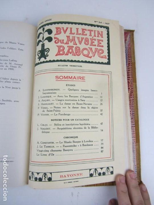 Coleccionismo de Revistas y Periódicos: Bulletin du musée basque, varios números, de 1925 a 1930, Bayonne. 17x24,5cm - Foto 7 - 139524886