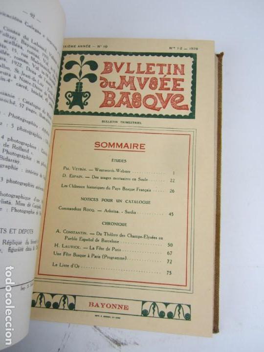 Coleccionismo de Revistas y Periódicos: Bulletin du musée basque, varios números, de 1925 a 1930, Bayonne. 17x24,5cm - Foto 9 - 139524886