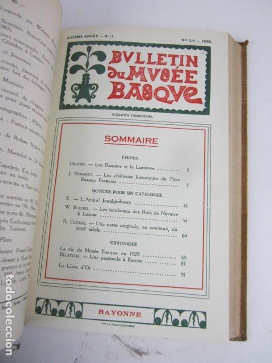 Coleccionismo de Revistas y Periódicos: Bulletin du musée basque, varios números, de 1925 a 1930, Bayonne. 17x24,5cm - Foto 10 - 139524886
