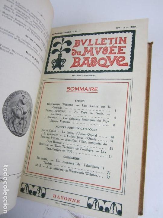 Coleccionismo de Revistas y Periódicos: Bulletin du musée basque, varios números, de 1925 a 1930, Bayonne. 17x24,5cm - Foto 11 - 139524886