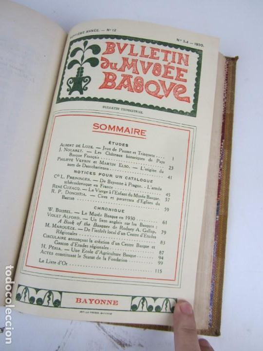 Coleccionismo de Revistas y Periódicos: Bulletin du musée basque, varios números, de 1925 a 1930, Bayonne. 17x24,5cm - Foto 12 - 139524886