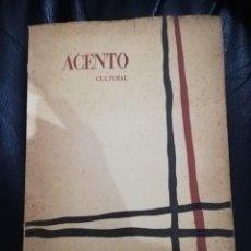 Coleccionismo de Revistas y Periódicos: ACENTO CULTURAL - REVISTA Nº 7 -MARZO ABRIL 1960. Lote 139525986
