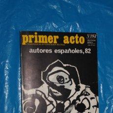 Coleccionismo de Revistas y Periódicos: REVISTA, PRIMER ACTO Nº 194 - AUTORES ESPAÑOLES, 82 - CUADERNOS INVESTIGACIÓN TEATRAL. Lote 139561606