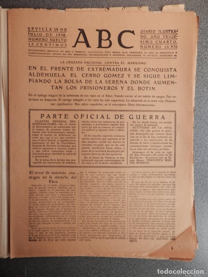 CONQUISTA VILLANUEVA DE LA SERENA ALDEHUELA CORRE SANGRE EBRO PERIÓDICO GUERRA CIVIL 29/07/38 (Coleccionismo - Revistas y Periódicos Antiguos (hasta 1.939))