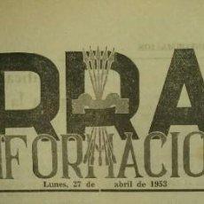 Coleccionismo de Revistas y Periódicos: 3 EJEMPLARES DE TARRASA INFORMACIÓN / ABRIL 1953 / NÚMS: 53 - 54 - 55. Lote 139610698