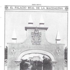 Collectionnisme de Revues et Journaux: 1913 HOJA REVISTA SANTANDER PALACIO REAL DE LA MAGDALENA ARCO DE ENTRADA A JARDINES. Lote 139698326
