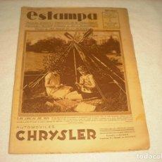 Coleccionismo de Revistas y Periódicos: ESTAMPA Nº 68 , ABRIL 1929. EN PORTADA LAS CHICAS DE HOY. AUTOMOVILES CHRYSLER.. Lote 139721894