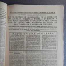Coleccionismo de Revistas y Periódicos: BATALLAS MANZANERA JAVALAMBRE TERUEL Y DEL EBRO PERIÓDICO GUERRA CIVIL 23/09/38. Lote 139722770