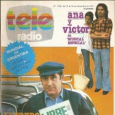 Coleccionismo de Revistas y Periódicos: REVISTA TELERADIO 1042 ALFREDO LANDA, VITOR MANUEL Y ANA BELEN, JUAN PARDO, MUNDIAL 78, PEDRO MACIAS. Lote 139726154