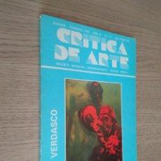 Coleccionismo de Revistas y Periódicos: CRITICA DE ARTE / REVISTA MENSUAL INDEPENDIENTE / NUEVA EPOCA / 1988 FEBRERO / 41 / JUAN VERDASCO. Lote 139853862