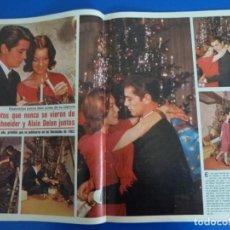 Coleccionismo de Revistas y Periódicos: RECORTE REPORTAJE CLIPPING ROMY SCHNEIDER Y ALAIN DELON NAVIDADES 1962 SEMANA Nº 2235 PÁG 56-59. Lote 139940242