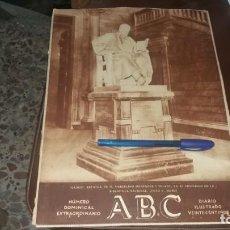 Coleccionismo de Revistas y Periódicos: ABC 13 DE NOVIEMBRE AÑO 1930 BAR. DON MARCELINO MENÉNDEZ Y PELAYO MAESTRO LUNA CERVEZA HORCHATA. Lote 139993166