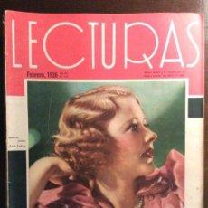 Coleccionismo de Revistas y Periódicos: REVISTA LECTURAS. FEBRERO 1936. Lote 140054958
