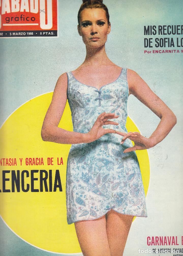 comprar online 7ea27 814b3 REVISTA SABADO GRAFICO Nº 492 AÑO 1966.CARNAVAL EN RIO.FANTASIA Y GRACIA DE  LA LENCERIA.SOFIA LOREN.