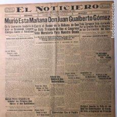 Coleccionismo de Revistas y Periódicos: CUBA. PERIÓDICO EL NOTICIERO. INDEPENDENCIA. IMPARCIALIDAD. AÑO II. 5 DE MARZO 1933 NÚMERO 64. Lote 140513550