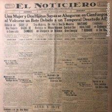 Coleccionismo de Revistas y Periódicos: CUBA. PERIÓDICO EL NOTICIERO. INDEPENDENCIA. IMPARCIALIDAD. AÑO II. 21 DE MARZO 1933 NÚMERO 80. Lote 140514706