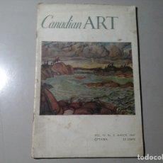 Coleccionismo de Revistas y Periódicos: CANADIAN ART. Nº 2. MARCH 1947. OTTAWA. TIPOGRAFÍA. DISEÑO. PINTURA. VANGUARDIAS. RARO.. Lote 140533698