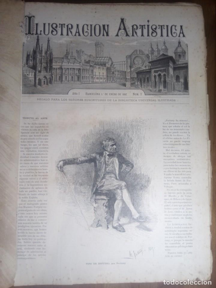 Collection Magazines and Newspapers: ILUSTRACION ARTISTICA Y ALBUM DE SALON. 1882 - Foto 9 - 140538650