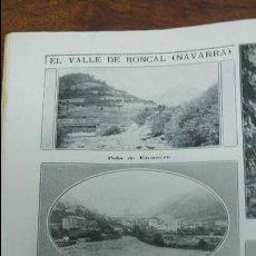 Coleccionismo de Revistas y Periódicos: EL VALLE DE RONCAL NAVARRA VALLADOLID EQUIPO FUTBOL REAL COLEGIO INGLES CONCURSO PERROS MADRID 1913. Lote 140549022