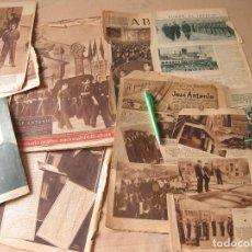 Coleccionismo de Revistas y Periódicos: LOTE DE RECORTES DE PRENSA SOBRE JOSÉ ANTONIO Y EL TRASLADO DE SUS RESTOS DESDE ALICANTE. 1939.. Lote 140576146