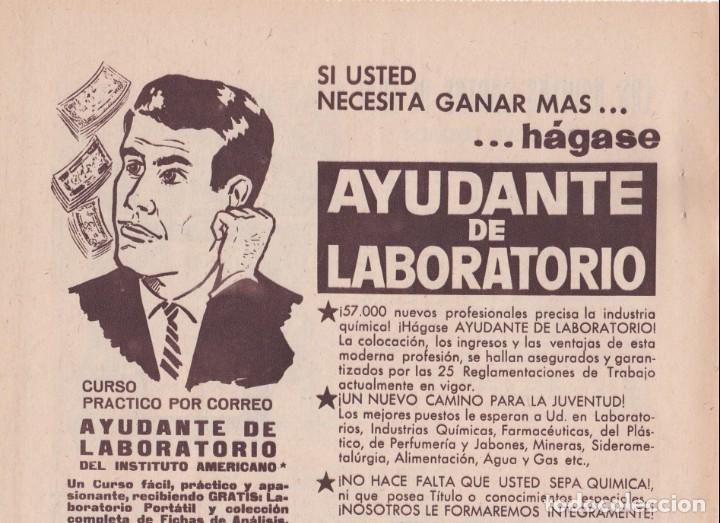 Coleccionismo de Revistas y Periódicos: PUBLICIDAD 1962. ANUNCIO INSTITUTO AMERICANO. AYUDANTE DE LABORATORIO - Foto 2 - 140596138
