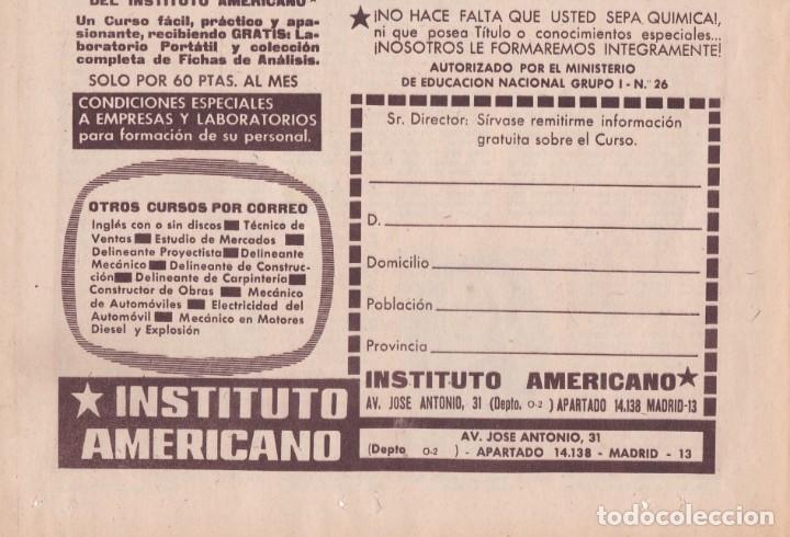 Coleccionismo de Revistas y Periódicos: PUBLICIDAD 1962. ANUNCIO INSTITUTO AMERICANO. AYUDANTE DE LABORATORIO - Foto 3 - 140596138