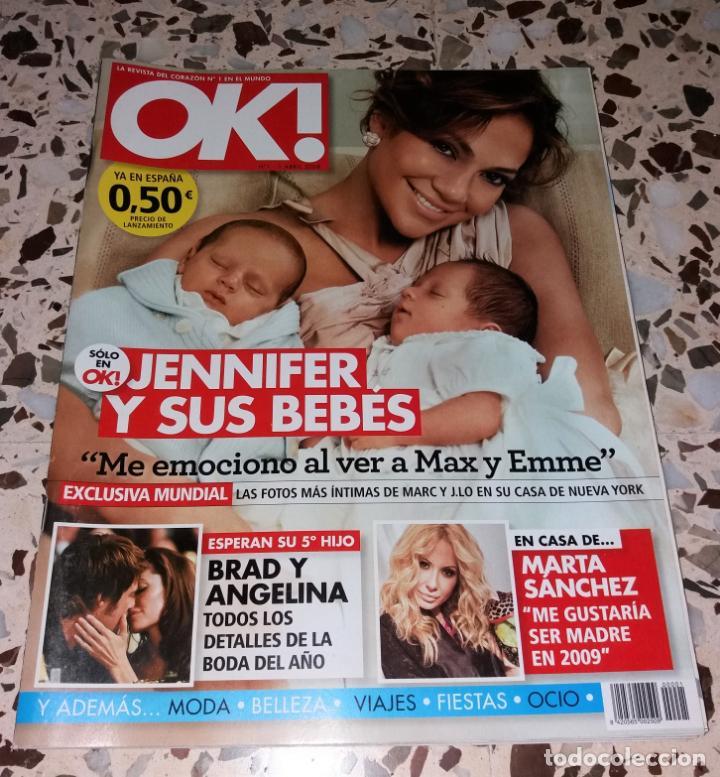 REVISTA DEL CORAZÓN. OK EDICIÓN ESPAÑOLA, Nº1 ABRIL 2008. JENNIFER LOPEZ (Coleccionismo - Revistas y Periódicos Modernos (a partir de 1.940) - Otros)