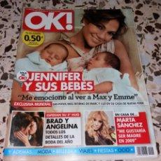 Coleccionismo de Revistas y Periódicos: REVISTA DEL CORAZÓN. OK EDICIÓN ESPAÑOLA, Nº1 ABRIL 2008. JENNIFER LOPEZ. Lote 140619314